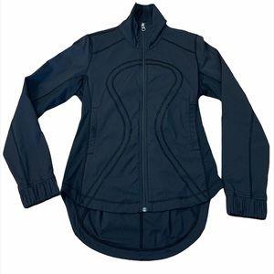 Lululemon Black Luon Zip Front High Low Jacket